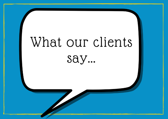 What our clients say...